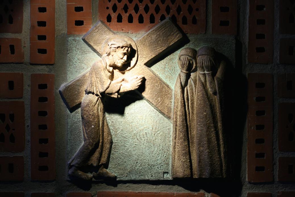 Einer der 14 Kreuzwegstationen Jesu